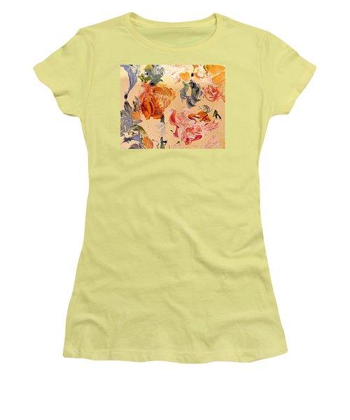 Fall Roses Women's T-Shirt (Junior Cut) by Nancy Kane Chapman