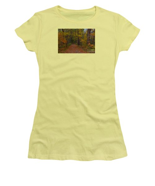 Falls Park Woods In Pendleton Women's T-Shirt (Athletic Fit)