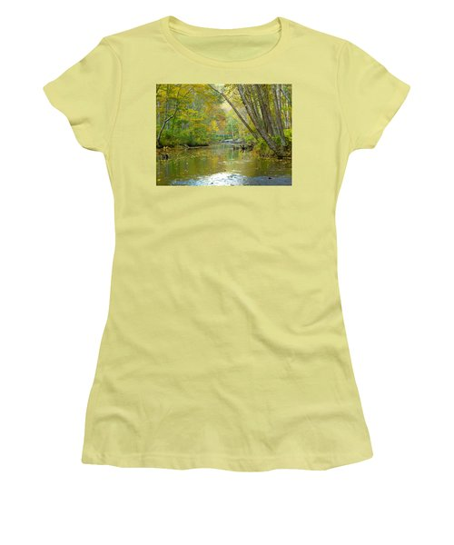 Falls Road Bridge Over The Gunpowder Falls Women's T-Shirt (Junior Cut) by Donald C Morgan