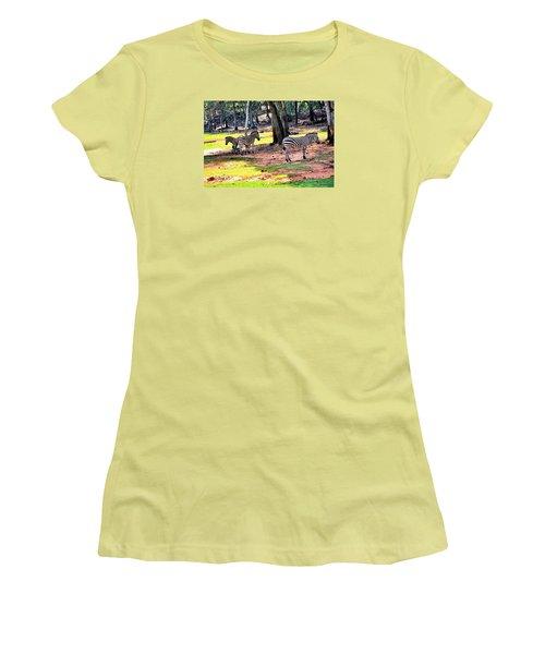 Family Of Four Women's T-Shirt (Junior Cut) by James Potts