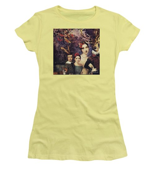 Women's T-Shirt (Junior Cut) featuring the digital art Family Portrait by Alexis Rotella