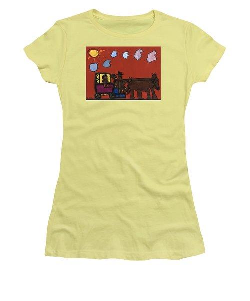 Family Transport Women's T-Shirt (Junior Cut) by Darrell Black