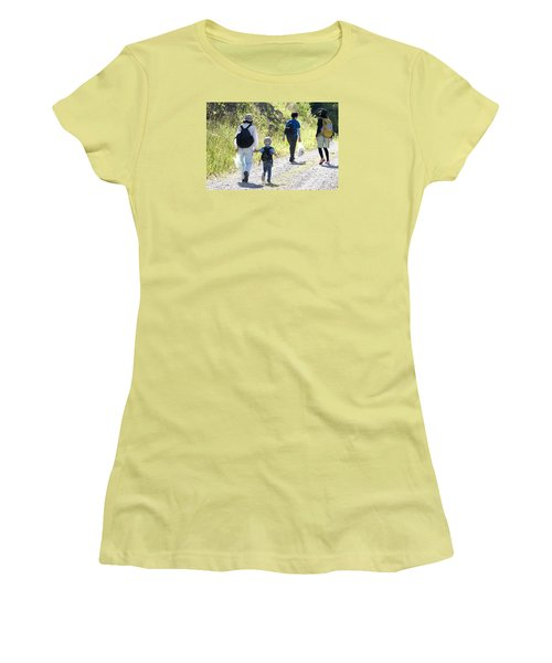 Family Walk Women's T-Shirt (Athletic Fit)