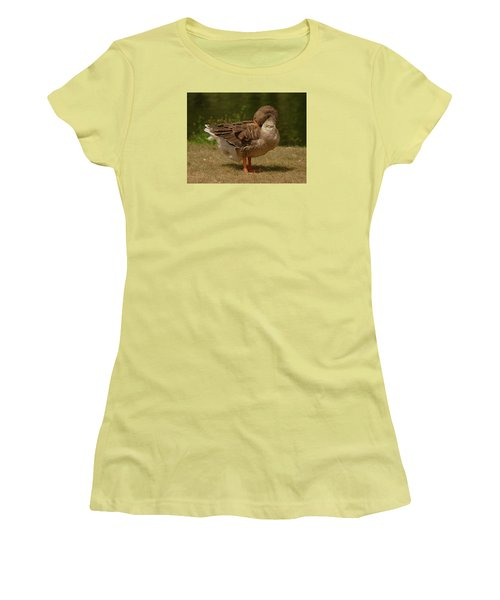 Women's T-Shirt (Junior Cut) featuring the photograph Fancy Goose by Ramona Whiteaker