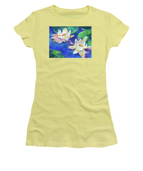 Fancy Waterlilies Women's T-Shirt (Athletic Fit)
