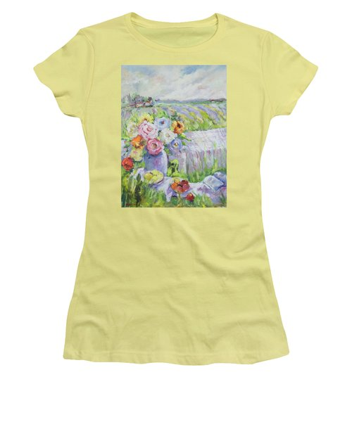 Far Away Women's T-Shirt (Junior Cut) by Sharon Furner