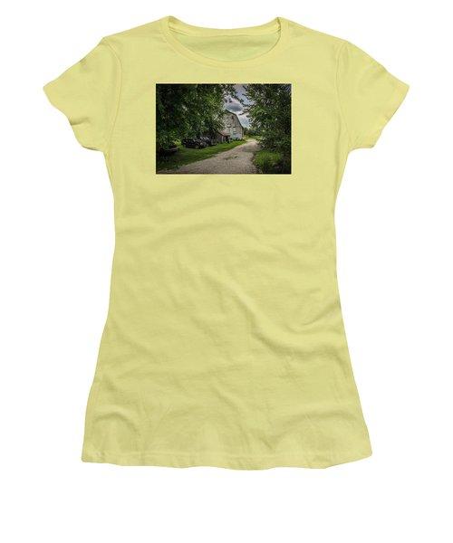 Women's T-Shirt (Junior Cut) featuring the photograph Farm Drive by Ray Congrove