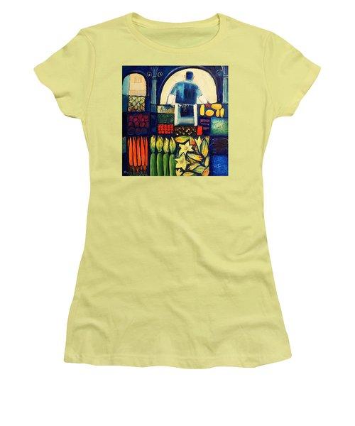 Farm Market   Women's T-Shirt (Junior Cut) by Mikhail Zarovny