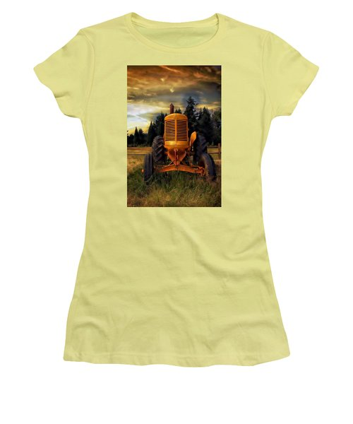 Women's T-Shirt (Athletic Fit) featuring the photograph Farm On by Aaron Berg