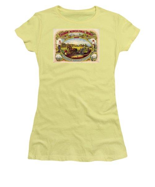 Farm Tools Ad 1859 Women's T-Shirt (Junior Cut) by Padre Art
