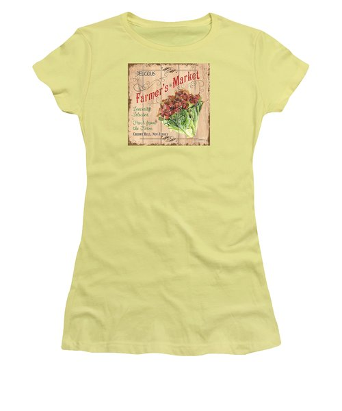 Farmer's Market Sign Women's T-Shirt (Athletic Fit)