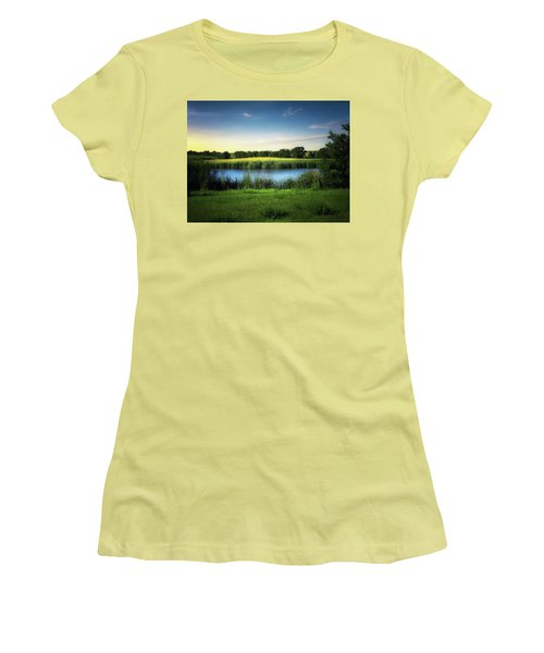 Farmland Waters Women's T-Shirt (Athletic Fit)