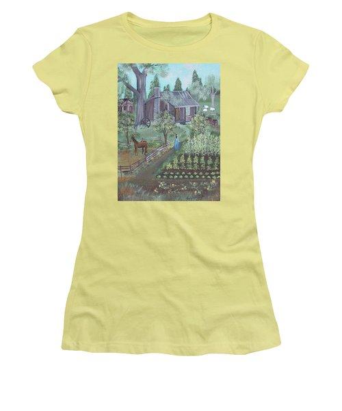 Farmstead Women's T-Shirt (Junior Cut) by Virginia Coyle