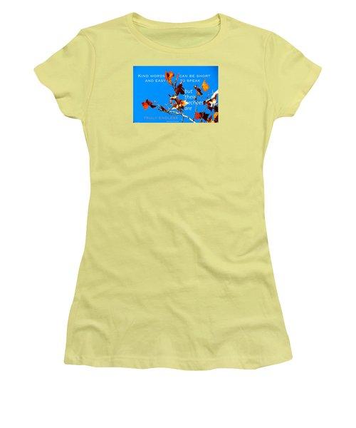 Farthest Reach Women's T-Shirt (Junior Cut) by David Norman