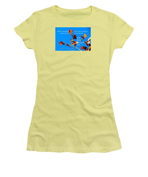 Women's T-Shirt (Junior Cut) featuring the photograph Farthest Reach by David Norman