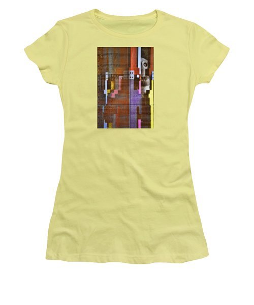 Women's T-Shirt (Junior Cut) featuring the photograph Fearful Reflections San Francisco by Steve Siri