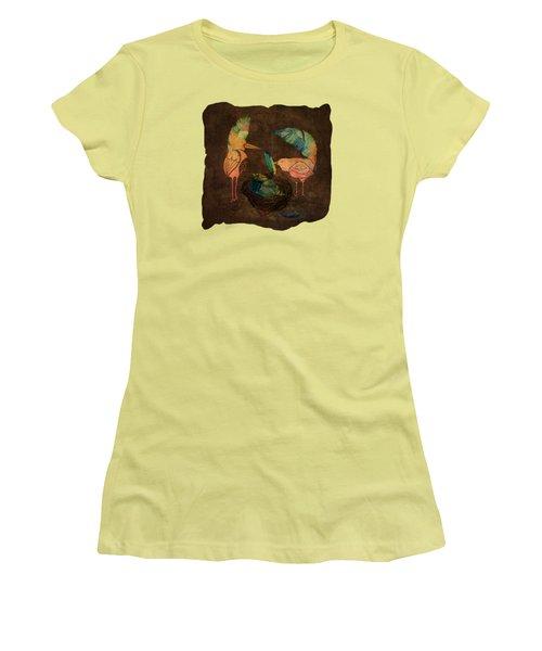 Feathering Their Nest Women's T-Shirt (Junior Cut) by Terry Fleckney