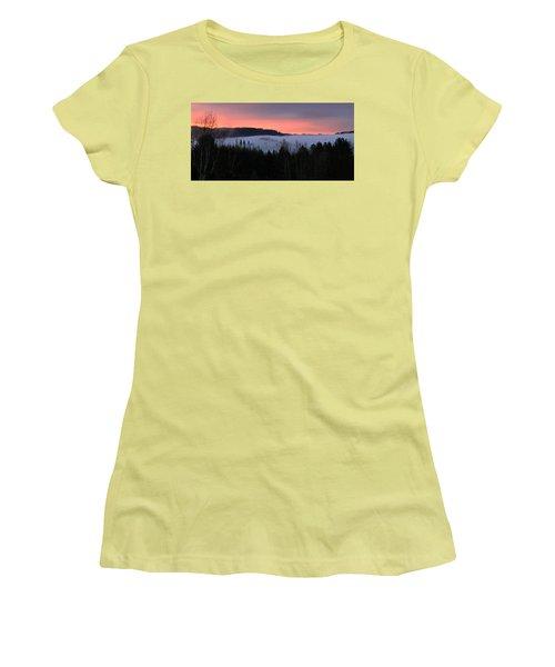 February Oregon Sunrise Women's T-Shirt (Junior Cut) by Katie Wing Vigil