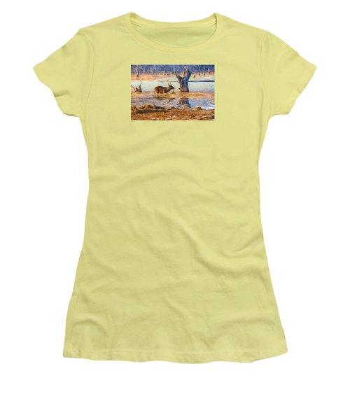 Feeding In The Lake Women's T-Shirt (Junior Cut) by Pravine Chester