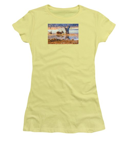 Feeding In The Lake Women's T-Shirt (Athletic Fit)