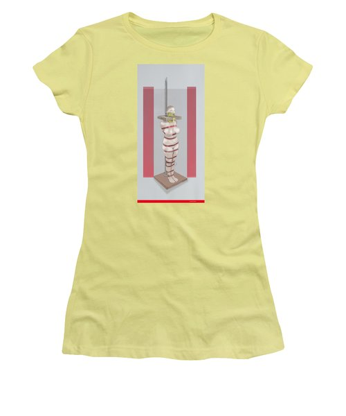 Women's T-Shirt (Athletic Fit) featuring the mixed media Feeding Posture by TortureLord Art