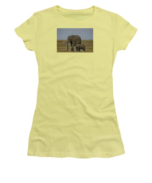 Women's T-Shirt (Junior Cut) featuring the photograph Feeding Time by Gary Hall