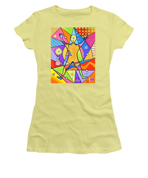 Feel The Vibes Women's T-Shirt (Athletic Fit)