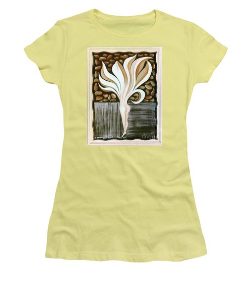 Women's T-Shirt (Junior Cut) featuring the painting Female Petal by Fei A