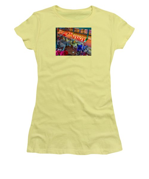 Fenway Food Court 3845 Women's T-Shirt (Athletic Fit)
