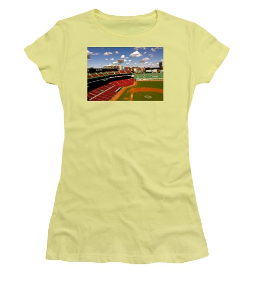 Women's T-Shirt (Junior Cut) featuring the photograph Fenway Park Iv  Fenway Park  by Iconic Images Art Gallery David Pucciarelli