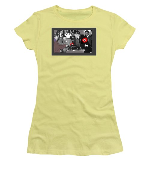 Ferdinand Porsche Showing The Prototype Of The Vw Beetle To Adolf Hitler 1935-2015 Women's T-Shirt (Athletic Fit)
