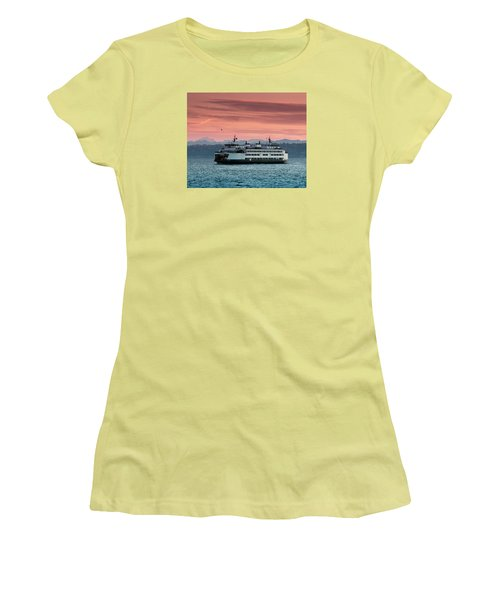 Ferry Cathlamet At Dawn.1 Women's T-Shirt (Athletic Fit)