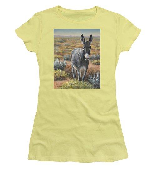Women's T-Shirt (Junior Cut) featuring the painting Festus by Kim Lockman