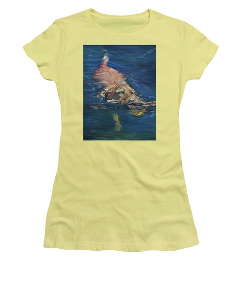 Fetching The Stick Women's T-Shirt (Athletic Fit)