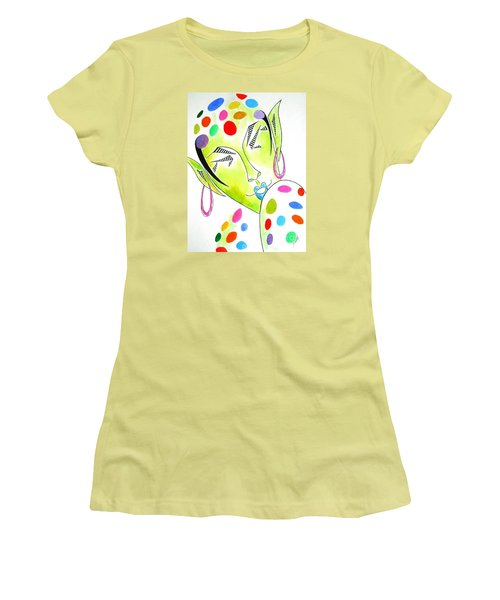 Fey -- The Original -- Fantasy Elf Portrait With Polka Dots Women's T-Shirt (Athletic Fit)