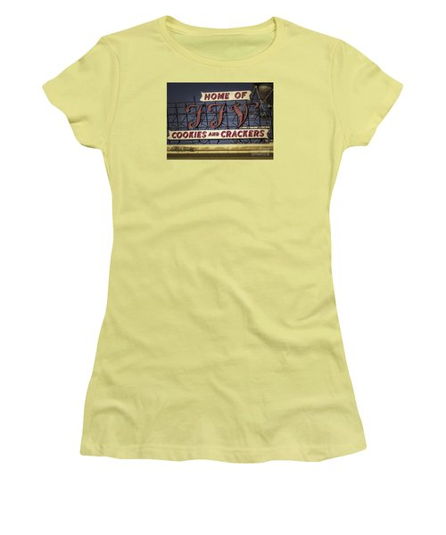 Women's T-Shirt (Junior Cut) featuring the photograph Ffv - Cookie And Cracker Factory by Melissa Messick