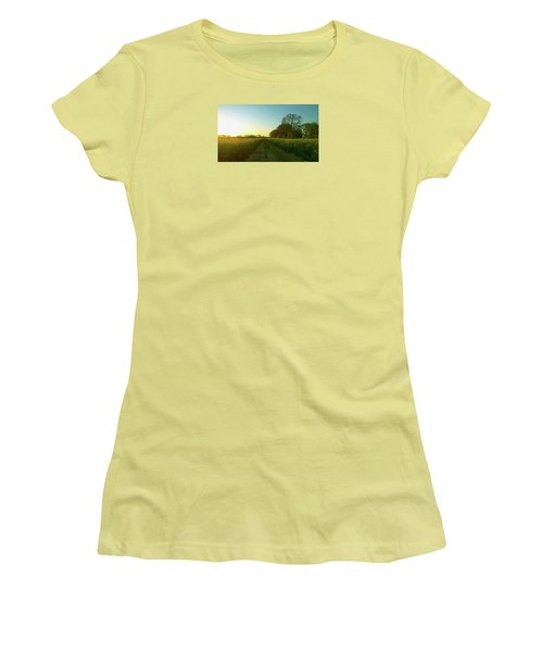Women's T-Shirt (Athletic Fit) featuring the photograph Field Of Gold by Anne Kotan