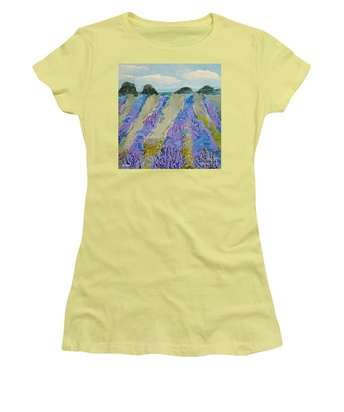 Fields Of Lavender Women's T-Shirt (Athletic Fit)