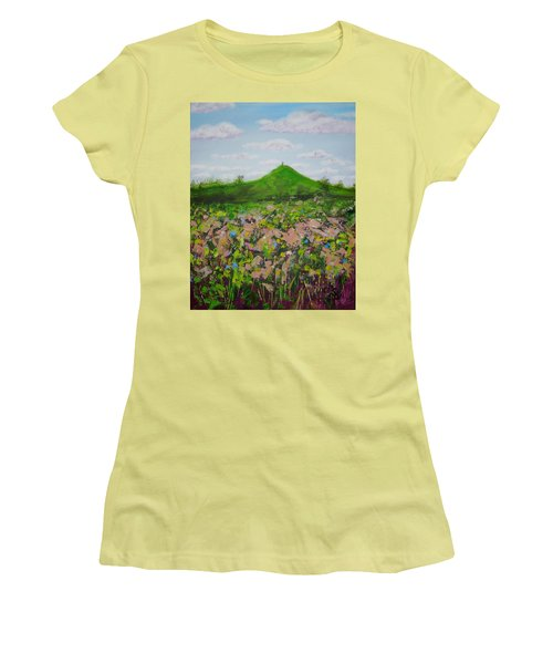 Fields To Glastonbury Tor Women's T-Shirt (Athletic Fit)