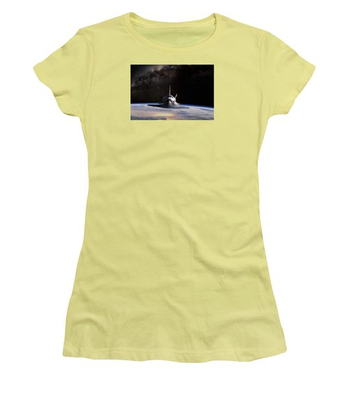 Final Frontier Women's T-Shirt (Junior Cut) by Peter Chilelli