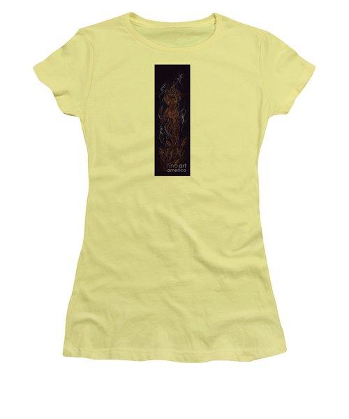 Women's T-Shirt (Junior Cut) featuring the drawing Fire by Dawn Fairies