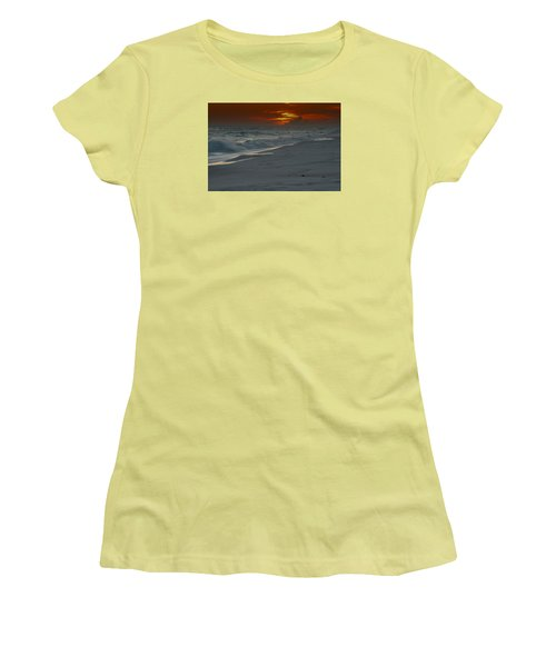 Women's T-Shirt (Junior Cut) featuring the photograph Fire In The Horizon by Renee Hardison