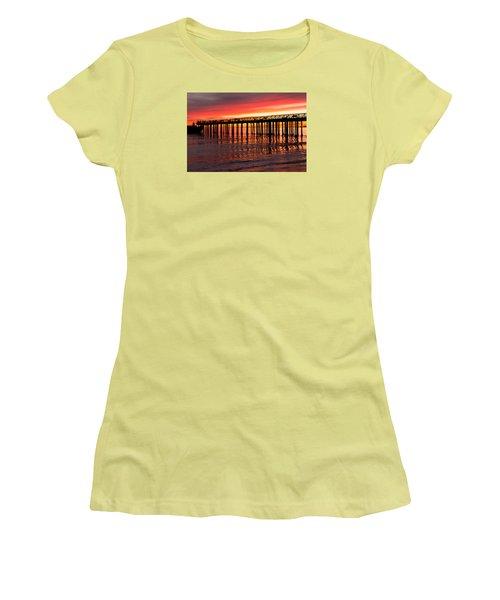Fire In The Sky Women's T-Shirt (Junior Cut) by Lora Lee Chapman