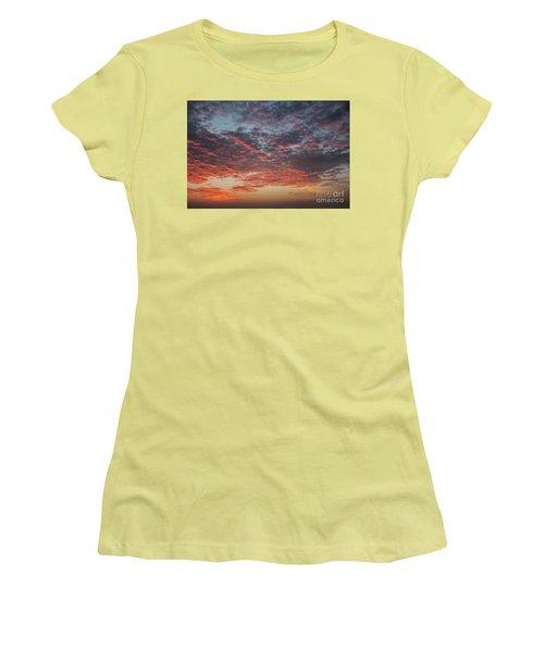 Fire Sky Women's T-Shirt (Junior Cut) by Ana Mireles