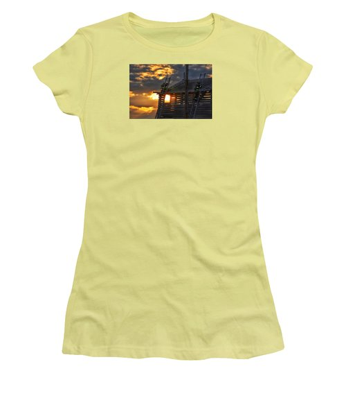 Women's T-Shirt (Junior Cut) featuring the photograph Firefighters In Training by Nikki McInnes