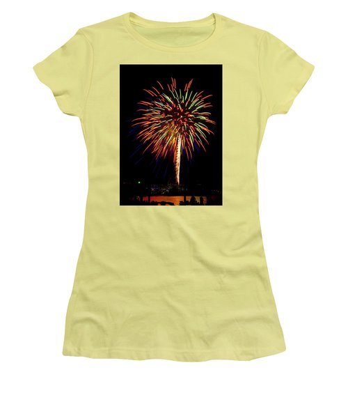 Fireworks Women's T-Shirt (Junior Cut) by Bill Barber