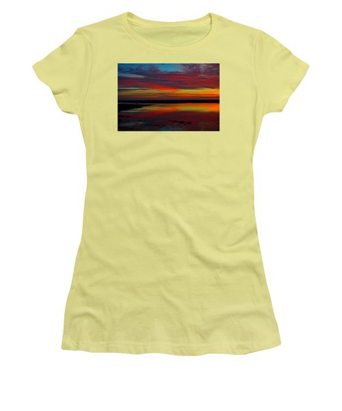 Fireworks From Nature Women's T-Shirt (Junior Cut) by Dianne Cowen