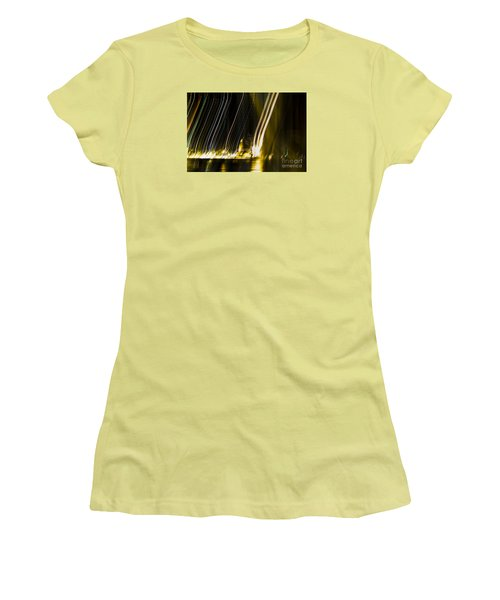 fireworks in Port of Malaga Women's T-Shirt (Junior Cut) by Perry Van Munster