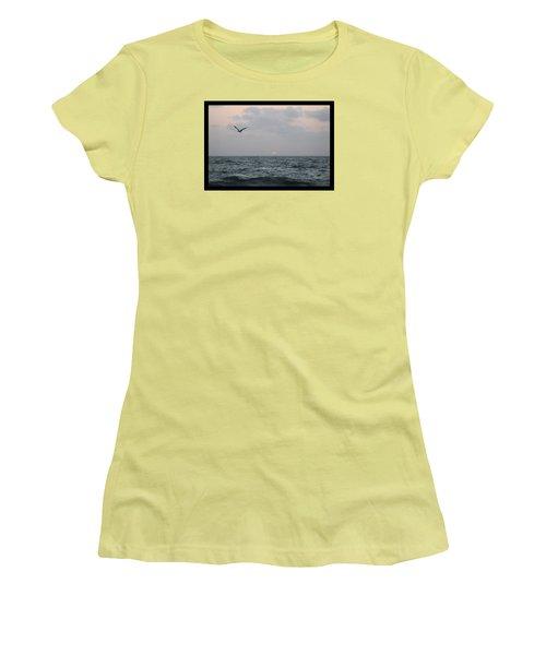 Women's T-Shirt (Junior Cut) featuring the photograph First Light by Robert Banach