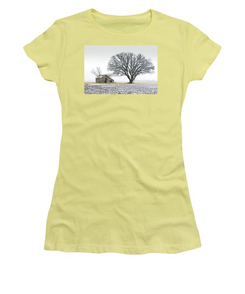 Winter's Approach Women's T-Shirt (Junior Cut) by Christopher McKenzie